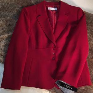 NEW Tahari brand red blazer